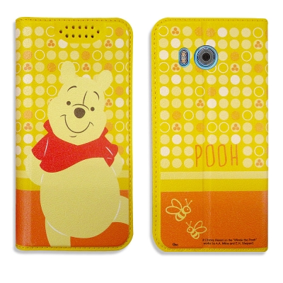 迪士尼正版授權 HTC U11 普普風彩繪手機皮套(維尼)