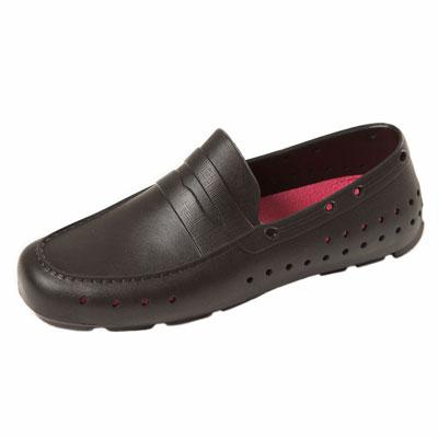 (男/女)Ponic&Co美國加州環保防水洞洞懶人鞋-黑色