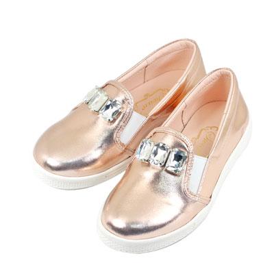 Swan天鵝童鞋-華麗寶石懶人休閒鞋 3830-金