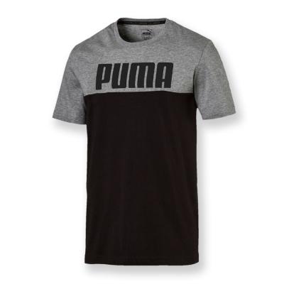 PUMA-男性基本系列Rebel短袖T恤-黑色-亞規