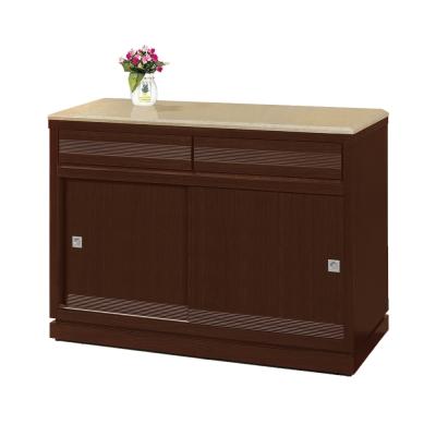 Bernice-斯坦4尺推門碗盤收納餐櫃(石面)-121x52x87cm