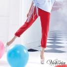Victoria 後染天絲棉男友褲-女-紅