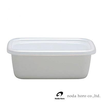 野田琺瑯 White Series系列長型保存盒-0.85L