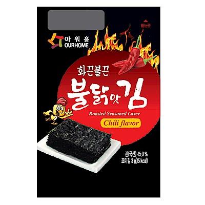 韓味不二 OURHOME海苔-辣雞口味(3gx20入)