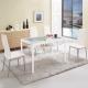 Boden-克萊爾白色玻璃餐桌椅組(一桌四椅)120x70x75cm product thumbnail 1