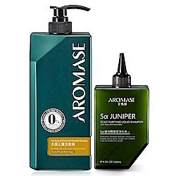 AROMASE艾瑪絲 去屑止癢洗髮精1000mL+1% 5α捷利爾液260mL