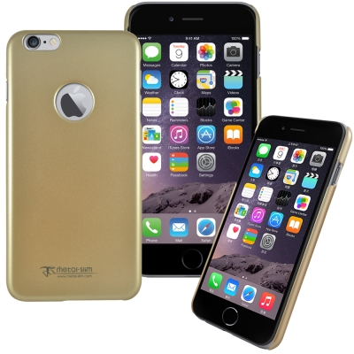 Metal-Slim Apple iPhone6 Plus-5.5珠光圓孔保護殼...