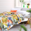 Cozy inn 天堂-綠-300織精梳棉-涼被(5X6尺)