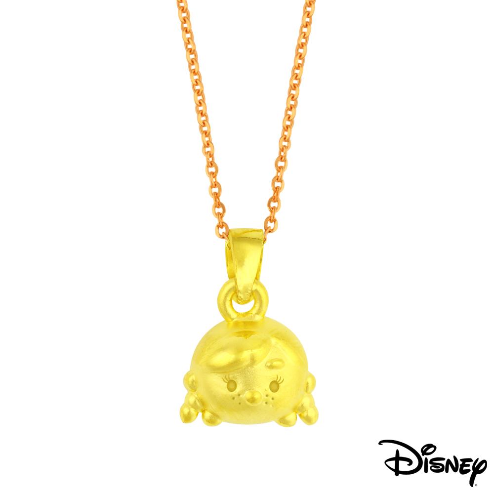 Disney迪士尼金飾 TSUM安娜黃金墜子 送項鍊