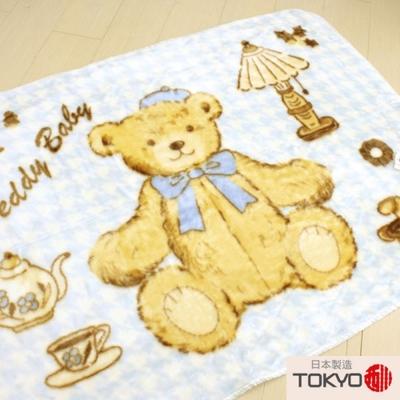 TOKYO東京西川貴族小熊童用發熱毛毯(100X140)藍