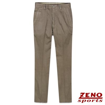 ZENO 針葉紋彈力修身無摺休閒褲‧麻灰色32~42