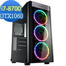技嘉B360平台[冰焰雷神]i7六核GTX1060獨顯SSD電玩機