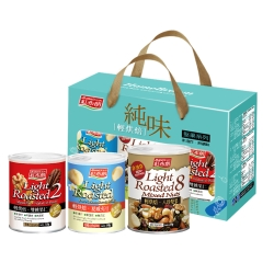 紅布朗 輕烘焙堅果禮盒(3罐/組)