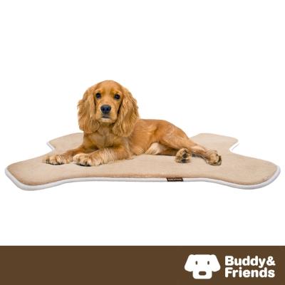 【Buddy&Friends】寵物骨頭造型墊 亞麻色M (61x91cm)