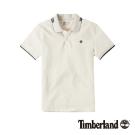 Timberland 男款古董白純棉透氣短袖Polo衫