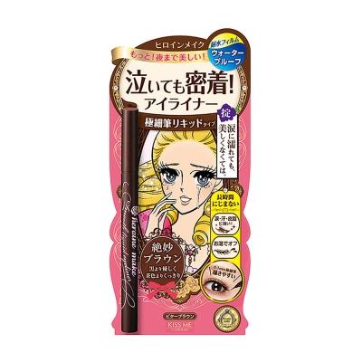 KISSME 花漾美姬零阻力經典復古棕眼線液筆0.4ml