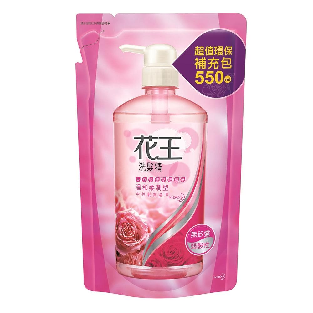 花王 溫和柔潤洗髮精 補充包(550ml/包)