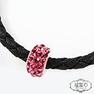 A1寶石  桃花多拉元素-Endless混搭元素-仿真皮繩編織手鍊(含開光)