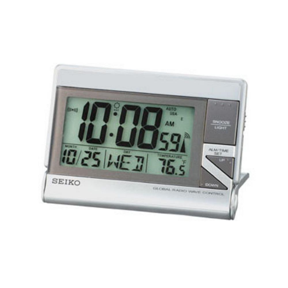 SEIKO 精工 世界電波靜音桌鐘-白/13x9cm