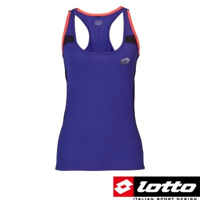 義大利-LOTTO-女鍺纖維機能慢跑背心