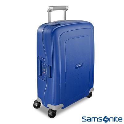 Samsonite新秀麗-20吋S-39-CURE四輪PP硬殼TSA扣鎖行李箱-海軍藍