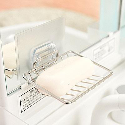 完美主義 不鏽鋼肥皂架/菜瓜布架/微透貼面(2入組)-8.5x10