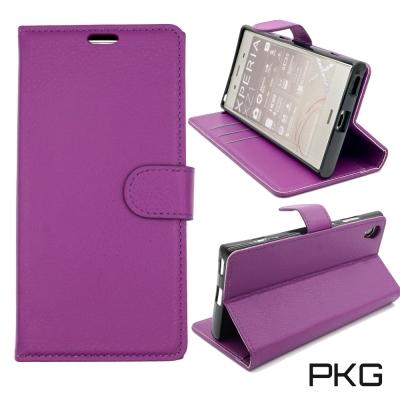 PKG SONY XA1-PLUS 側翻式皮套-經典皮套系列-紫色