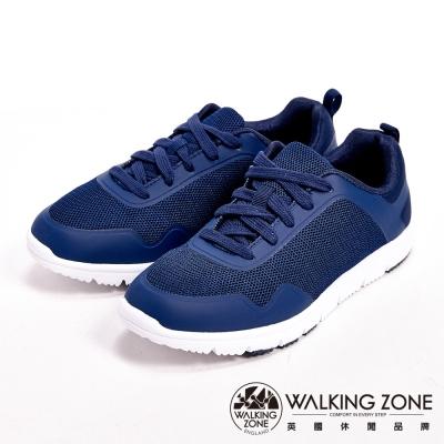 【WALKING ZONE】超輕量彈性運動休閒女鞋-深藍(另有桃)