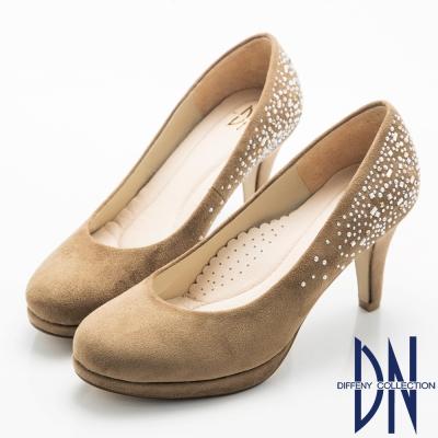 DN-經典優雅-耀眼水鑽點綴晚宴高跟鞋-駝
