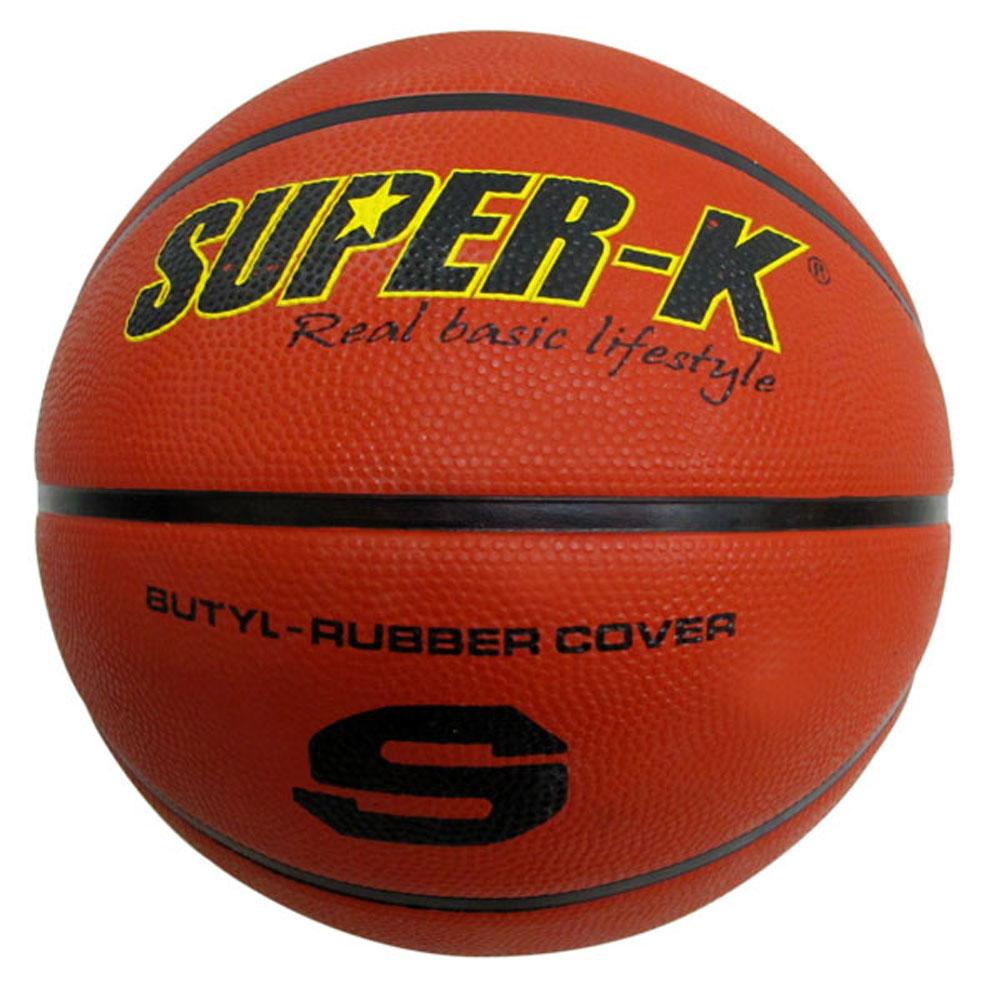 美國品牌【SUPER-K】7號橡膠深溝籃球SBCF702