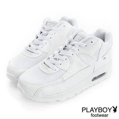 PLAYBOY 時髦革命 可愛色系慢跑運動鞋-白(女)