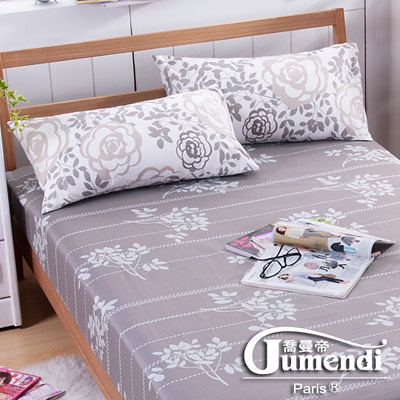 喬曼帝Jumendi-玫瑰序曲 台灣製活性柔絲絨加大三件式床包組