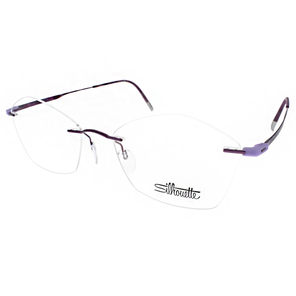 Silhouette詩樂眼鏡 輕量無框/紫#ST5516 ET C4041