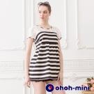 ohoh-mini 孕婦裝 透膚蕾絲拼接可愛圓點上衣-2色