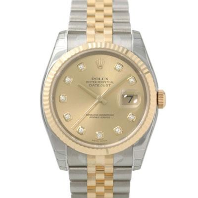 ROLEX 勞力士 DateJust 116233 蠔式恆動日誌型鑽錶 -金色標準鑽面/37mm