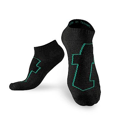 【Titan】太肯生活運動襪_黑/綠_<b>5</b>雙(適合職場、休閒、輕運動)