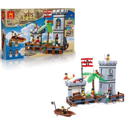 海盜樂園 益智趣味DIY積木組裝遊戲組 349PCS