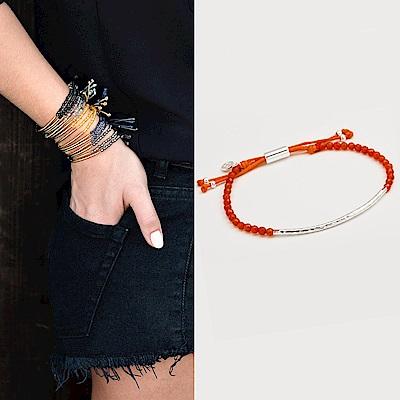 GORJANA POWER GEM 平衡骨 銀墜 橘色瑪瑙手鍊 可調式手圍 充滿自信