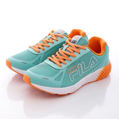 FILA-女網布-漸層-運動休閒鞋-綠