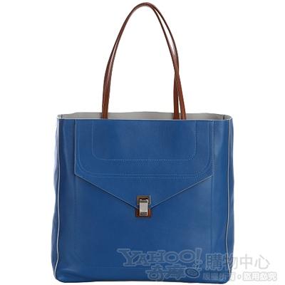 PROENZA SCHOULER PS 1  藍色前袋設計托特包