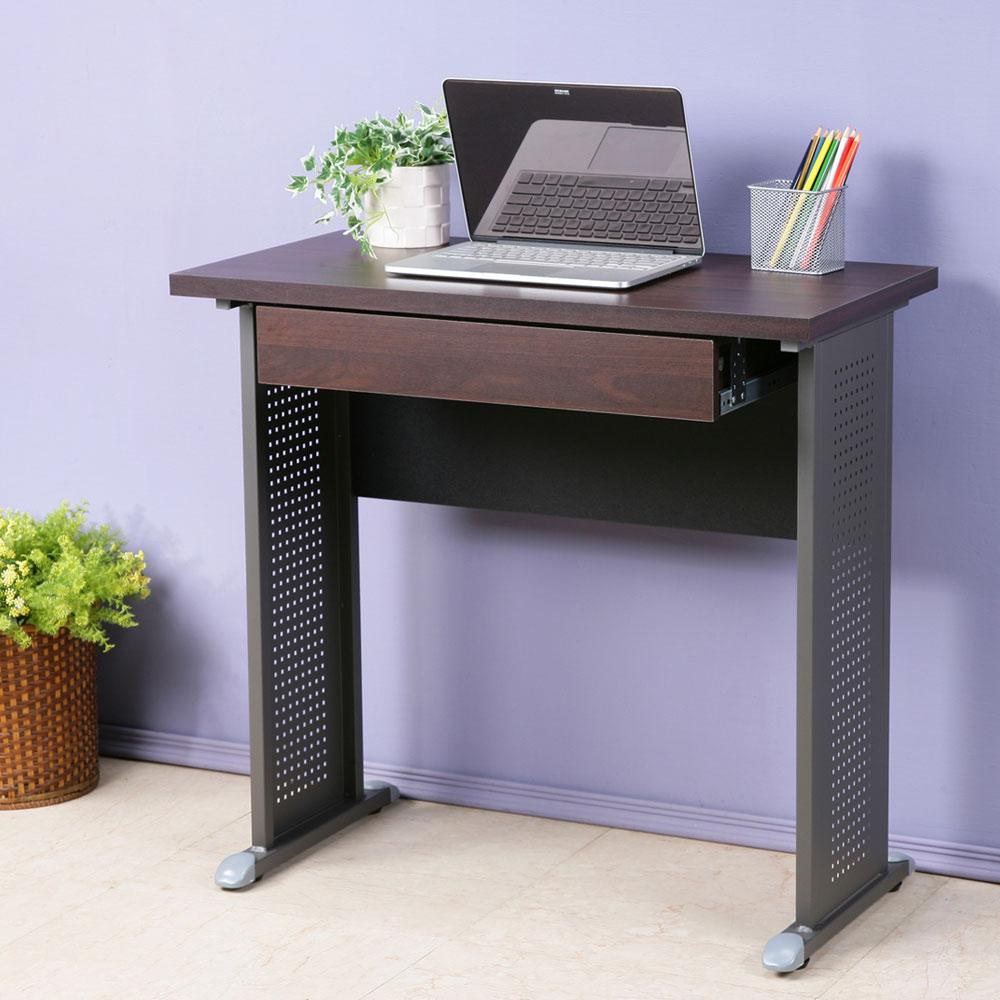 Homelike 皮特80x40工作桌(附抽)-加厚桌面