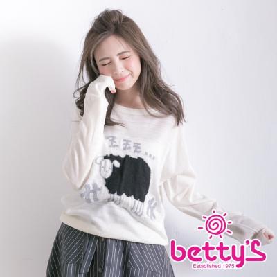 betty's貝蒂思 可愛綿羊針織衫(白色)
