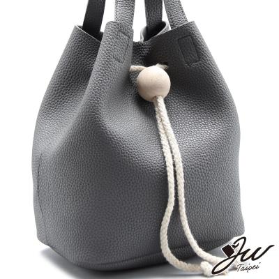 JW-水桶包-米歇爾木球束口流蘇手肩側包-共四色