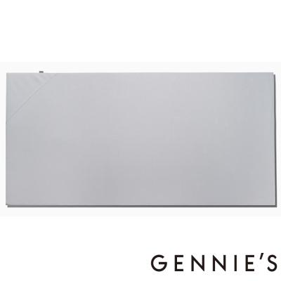 Gennies奇妮專櫃-咖啡紗嬰兒寢具系列組合-嬰兒床墊 (GX48H0-灰)