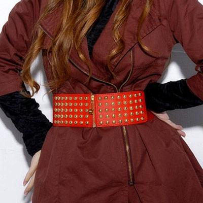 Aimee Toff 基本百搭典雅拉鍊腰封(紅)