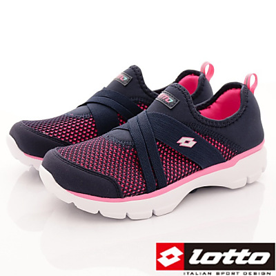 Lotto樂得-雙密度緩震慢跑鞋-FI 886 深藍(女段)
