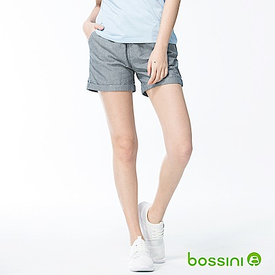 bossini女裝-素色輕便短褲01海軍藍