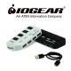 IOGEAR 節能開關USB3.0 4埠HUB集線器-白 product thumbnail 1