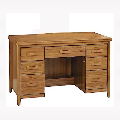 H&D 愛莉絲柚木4.2尺書桌 (寬127X深66.5X高81.3cm)