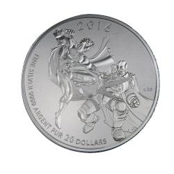 2016年加拿大蝙蝠俠V超人銀幣  (約7.96g)